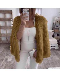 Woman coat - kod 4767 - brown