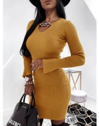Dresses - kod 5666 - mustard