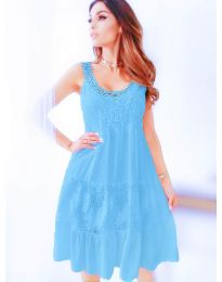 Dresses - kod 3232 - light blue