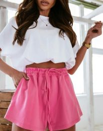 Атрактивни къси панталони в цвят циклама - код 2614
