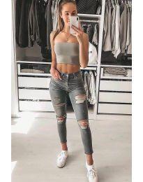 Jeans - kod 4263 - 1 - gray