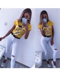 T-shirts - kod 2958 - mustard