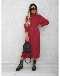 Dresses - kod 0590 - bordeaux