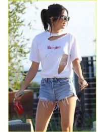 T-shirts - kod 3678 - white
