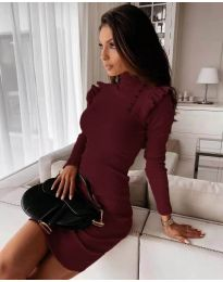 Dresses - kod 8484 - bordeaux