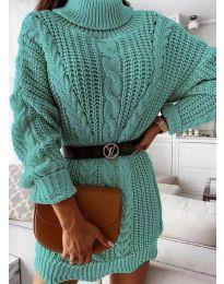 Dresses - kod 6071 - turquoise