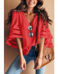 Blouses - kod 3371 - 4 - red