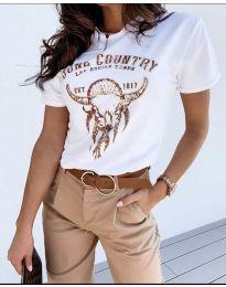 T-shirts - kod 428 - 1 - white