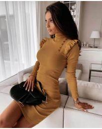 Dresses - kod 8484 - mustard