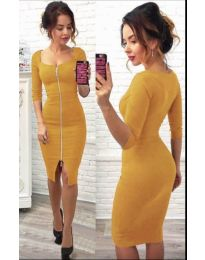 Dresses - kod 445 - mustard