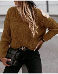 Pullovers - kod 407 - brown
