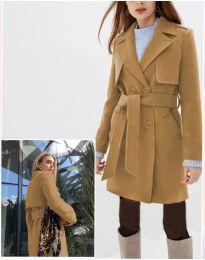 Woman coat - kod 3113 - 1 - brown