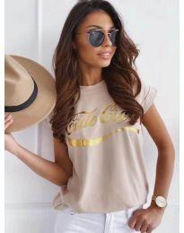 T-shirts - kod 3659 - beige