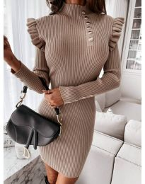 Dresses - kod 0763 - cappuccino
