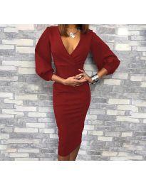 Dresses - kod 8706 - 2 - bordeaux
