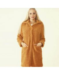 Woman coat - kod 1615 - 6 - brown