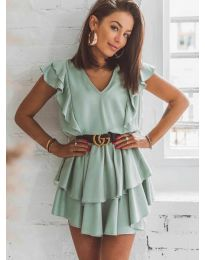 Dresses - kod 7173 - green