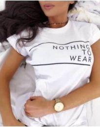 T-shirts - kod 3587 - white