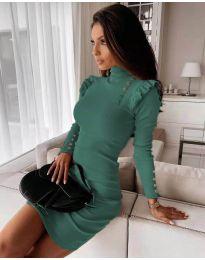Dresses - kod 8484 - turquoise