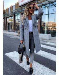 Woman coat - kod 973 - gray