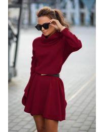 Dresses - kod 909 - bordeaux