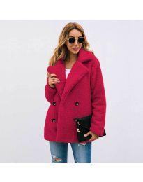 Woman coat - kod 4777 - bordeaux