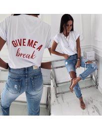 T-shirts - kod 3293 - white