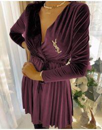 Dresses - kod 8619 - 3 - bordeaux