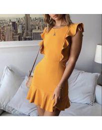 Dresses - kod 548 - mustard